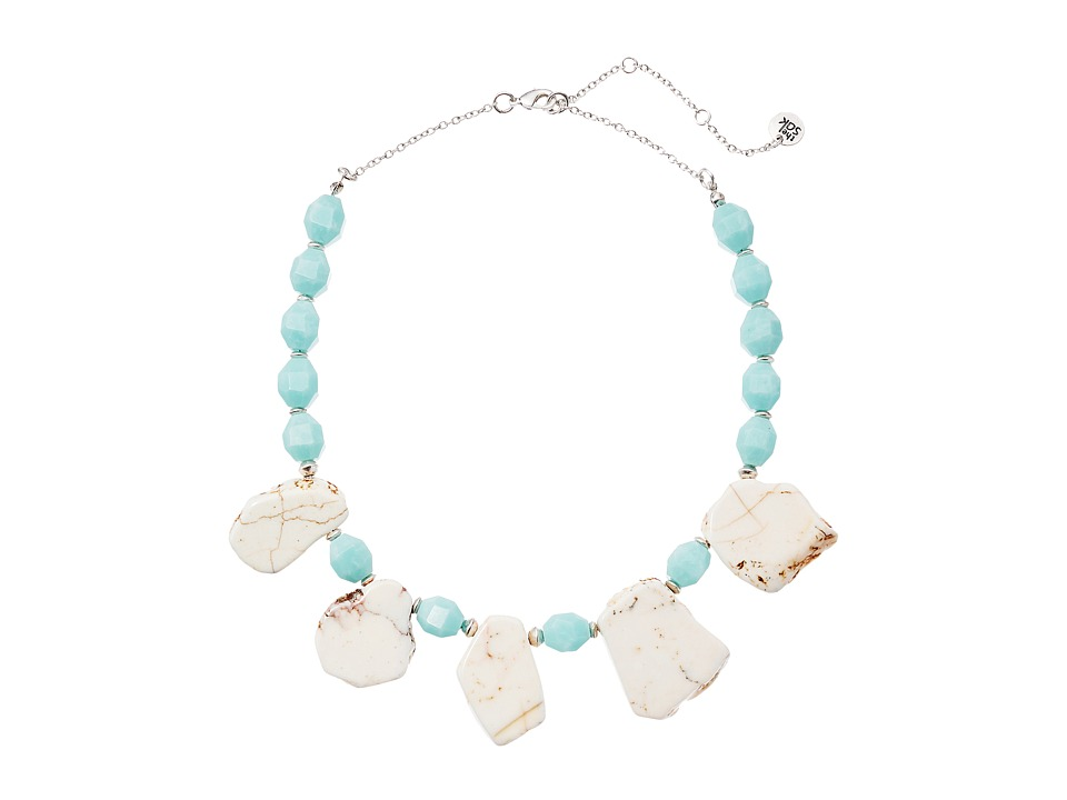 The Sak - Beaded Collar Necklace 16 (Amazonite) Necklace