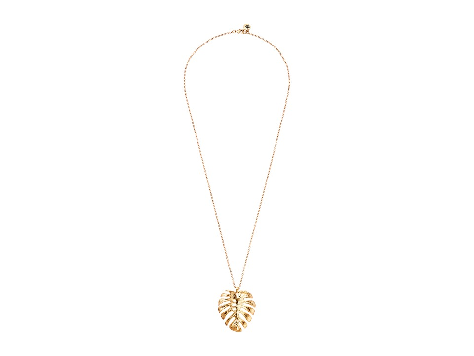 The Sak - Large Leaf Pendant Necklace 28 (Gold) Necklace
