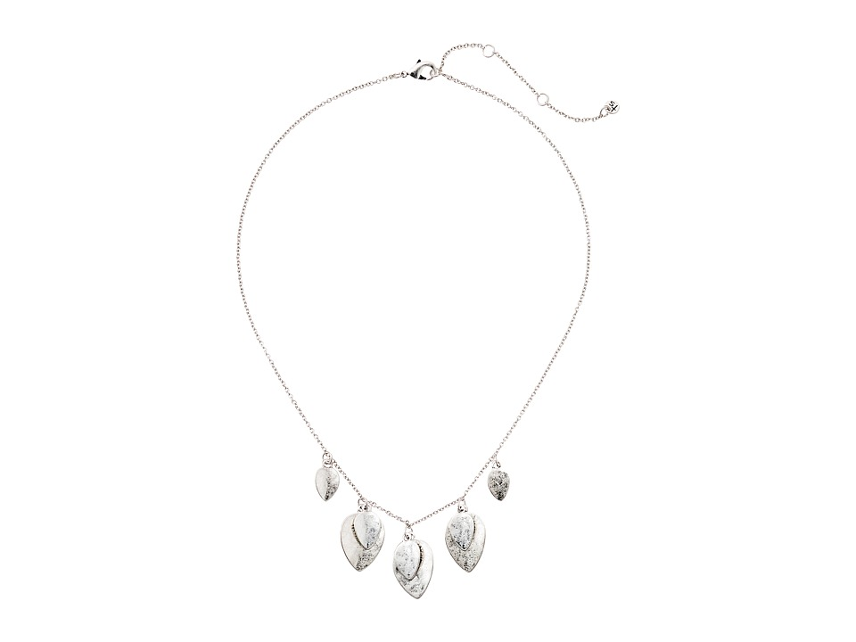 The Sak - Layered Frontal Necklace 16 (Silver) Necklace