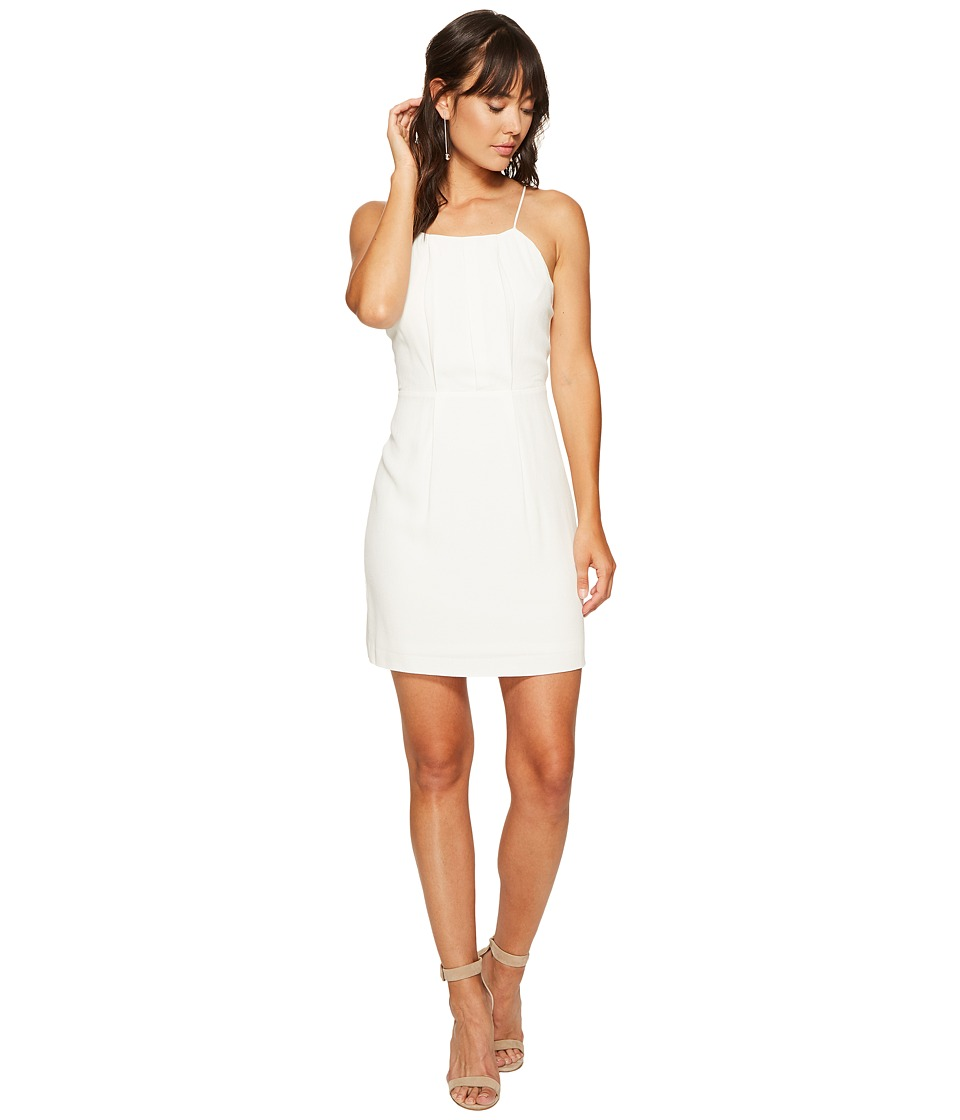 kensie Texture Crepe Dress with Lace Back KS6K7993 (French Vanilla) Women