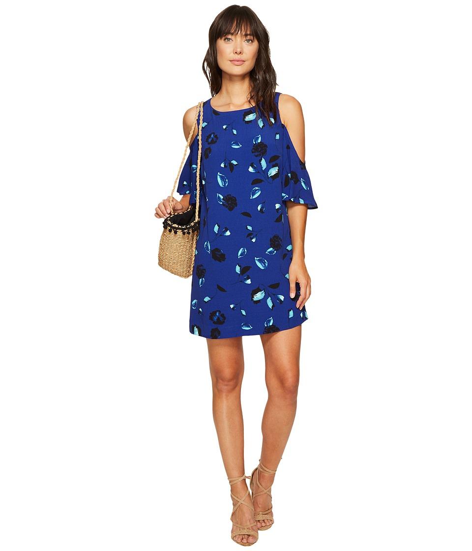 kensie - Floating Petals Dress KS6K7995 (Dark Sapphire Combo) Women's Dress