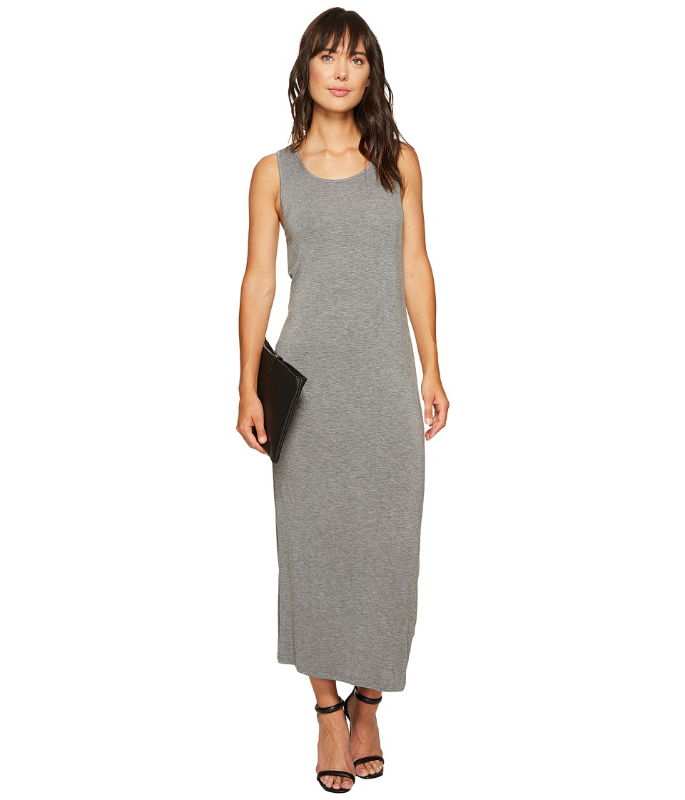 kensie - Subtle Slub Tees Dress with Open Back KS6K7978 (Heather Ash) Women's Dress
