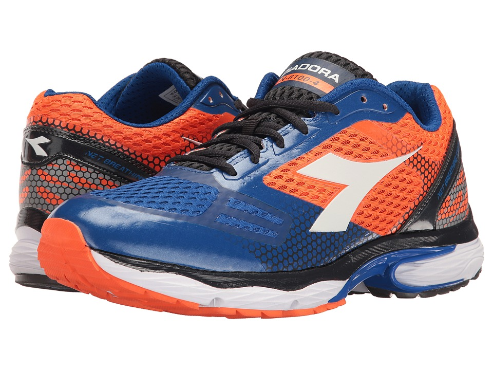 Diadora - N-6100-4 (Orange/Royal) Men's Shoes