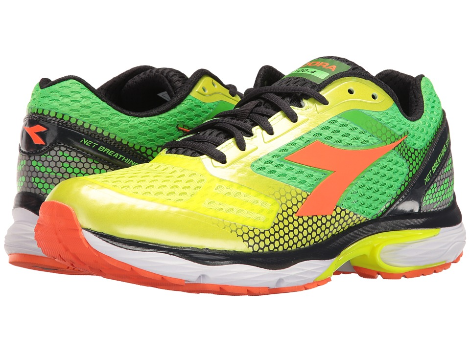 Diadora - N-6100-4 (Yellow Fluo/Green Fluo) Men's Shoes