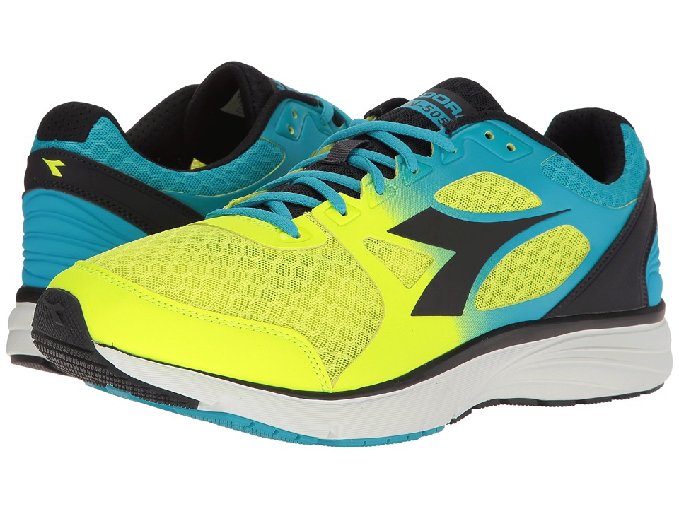 Diadora - Run 505 (Fluo Cyan/Fluo Yellow/Black) Men's Shoes