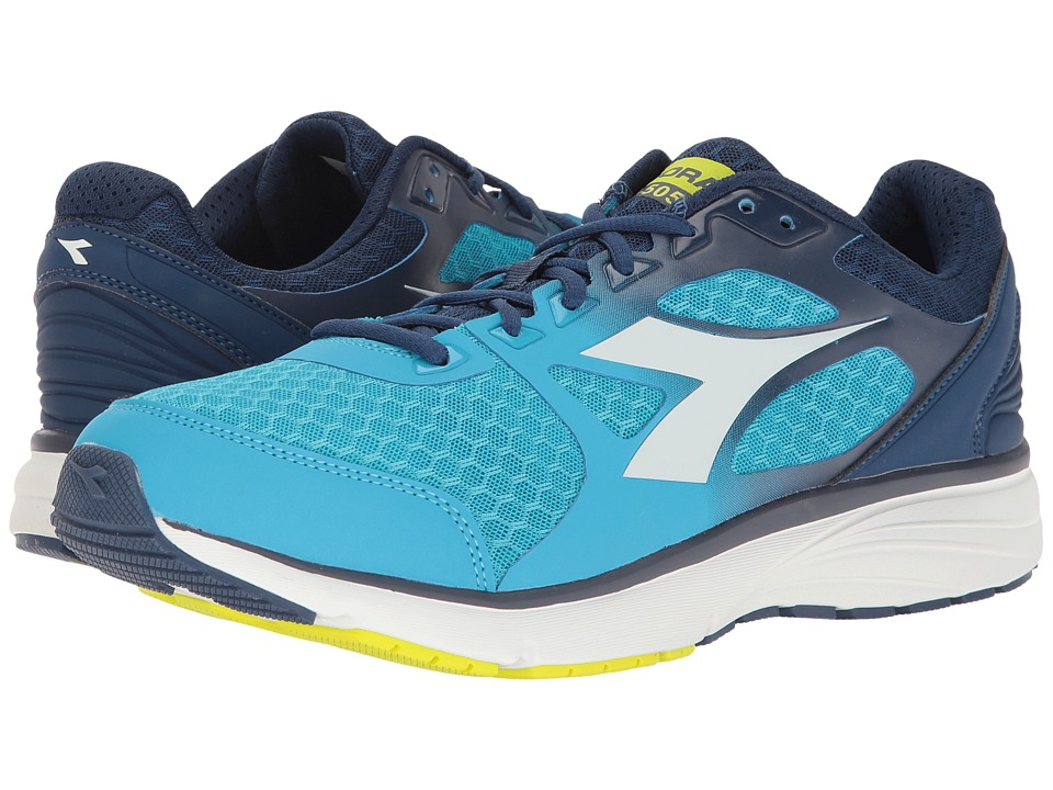 Diadora - Run 505 (Blue Fluo/White) Men's Shoes