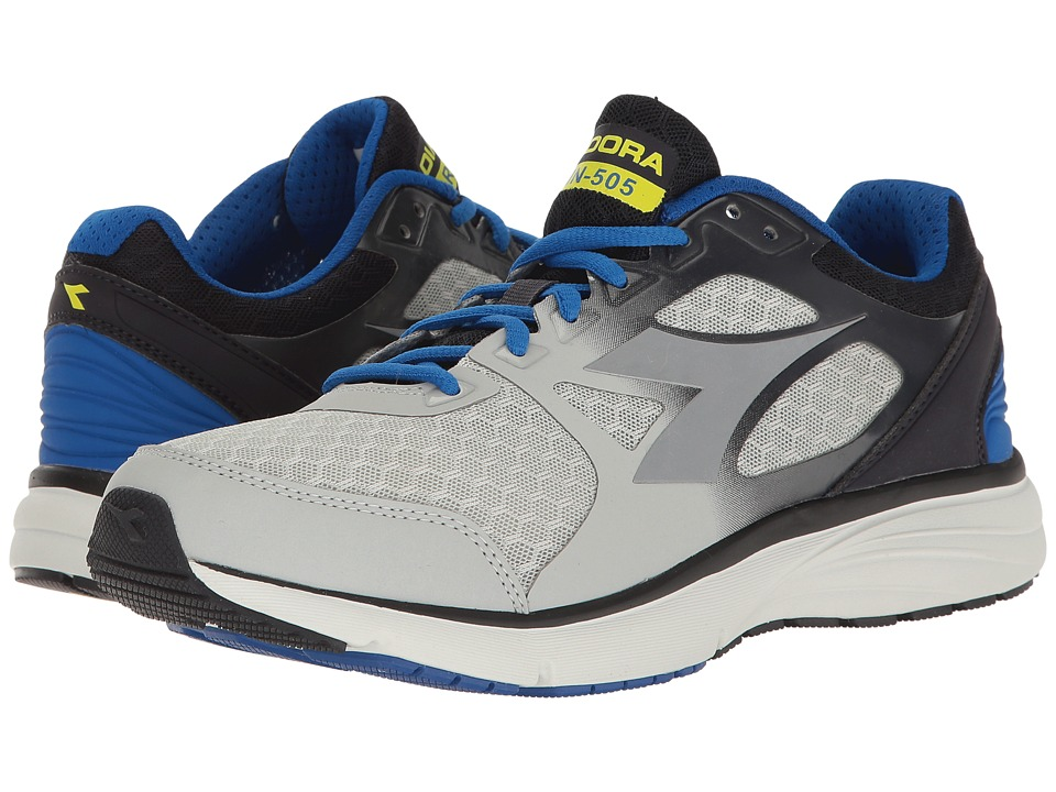 Diadora - Run 505 (Gray/Royal) Men's Shoes