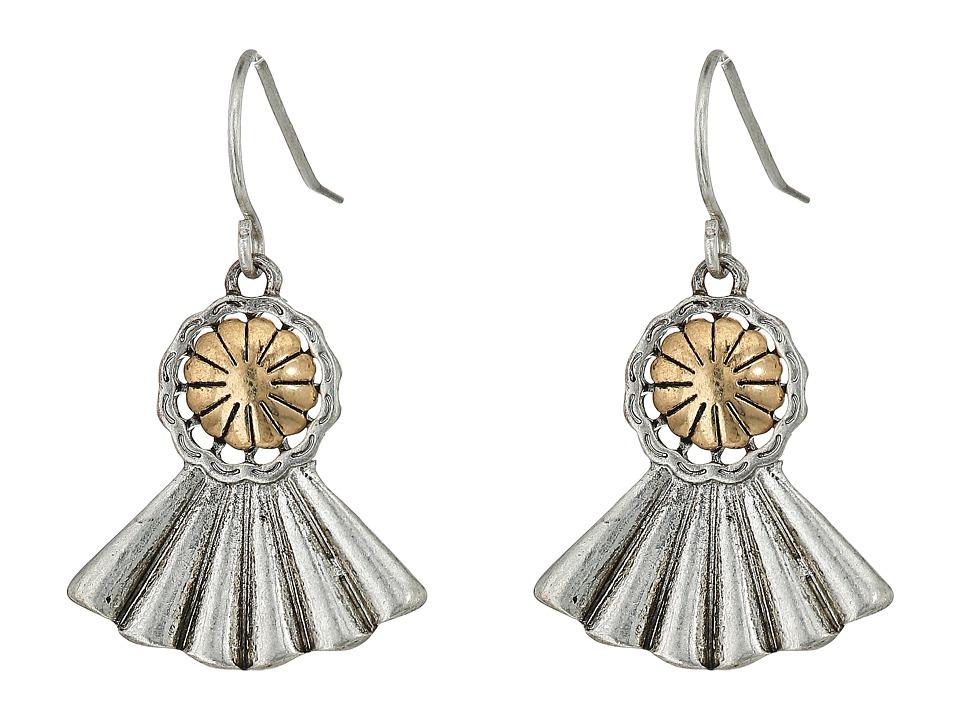 The Sak - Concho Fan Drop Earrings (Two-Tone) Earring