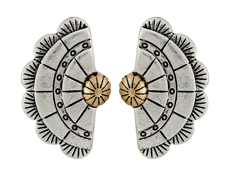 The Sak - Concho Fan Stud Earrings (Two-Tone) Earring