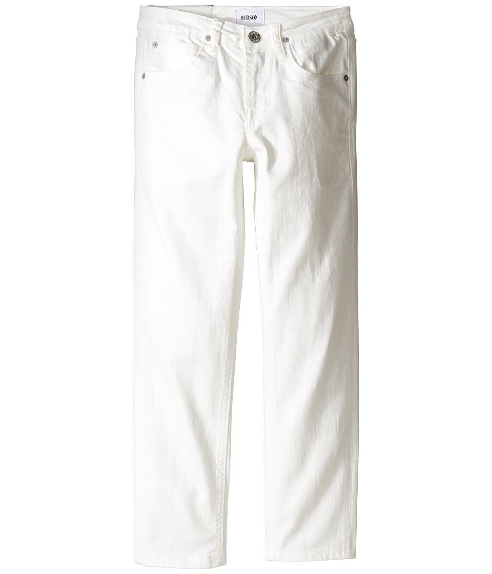 Hudson Kids - Jagger Slim Straight Five-Pocket in White (Big Kids) (White) Boy's Jeans