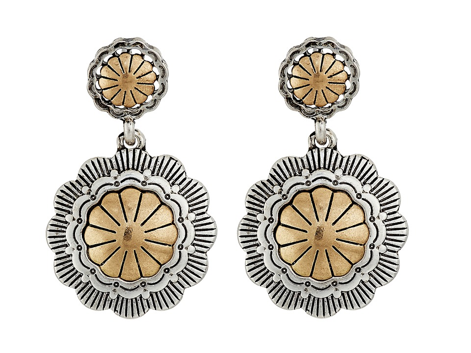 The Sak - Concho Double Drop Earrings (Two-Tone) Earring