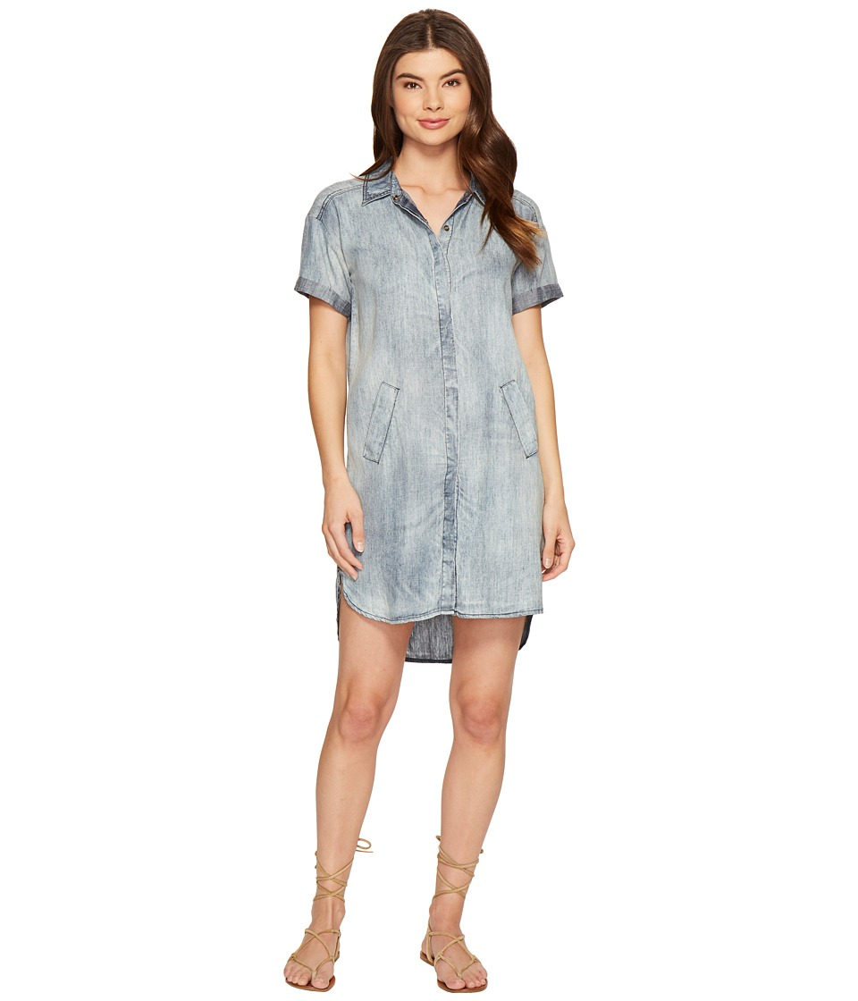 Michael Stars Linen Denim Tencel ShirtDress