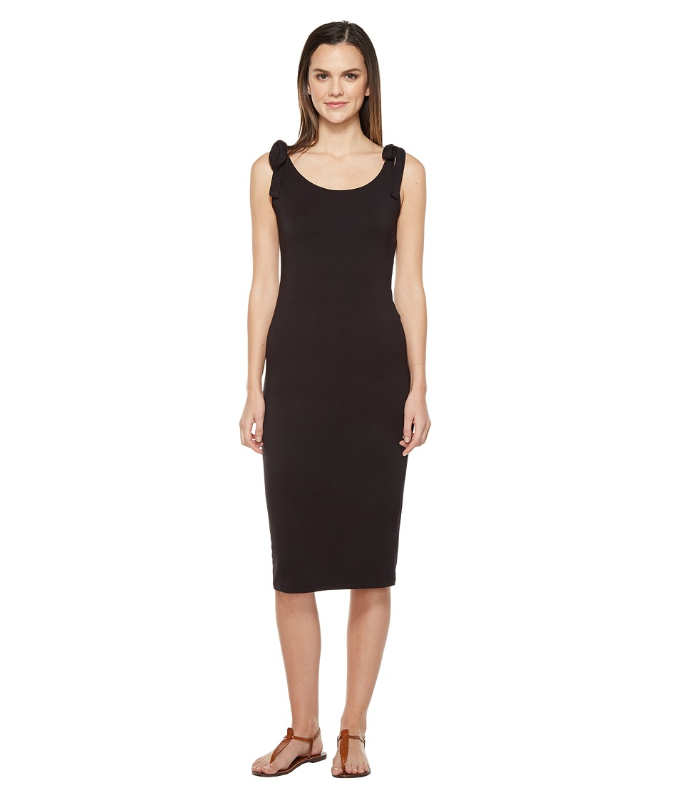 Michael Stars - Midi Tank Dress with Tied Straps (Black) Women's Dress