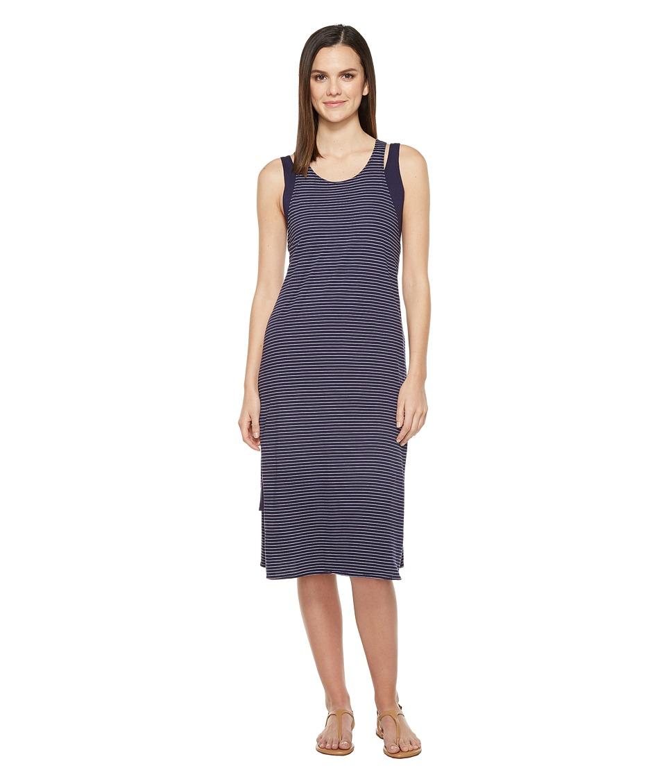 Michael Stars - Cafe Stripe Layered Tank Dress (Nocturnal) Women's Dress