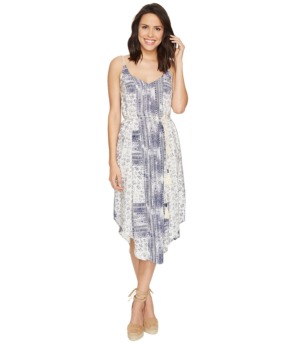 Michael Stars - Charlotte Print Midi Dress (Chalk/Nocturnal) Women's Dress