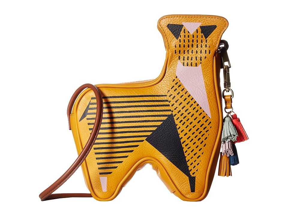 Fossil - Llama Crossbody (Artisan Gold) Cross Body Handbags