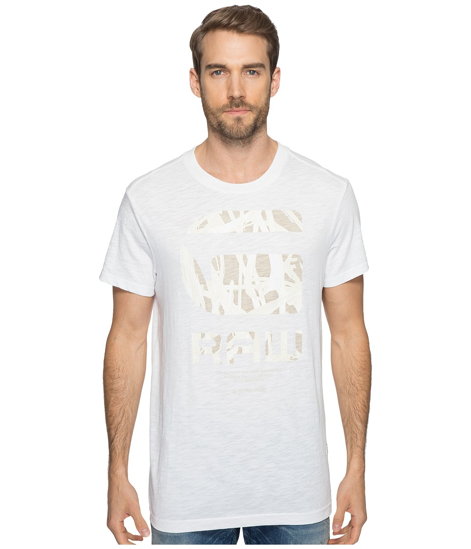 G-Star - Frikran Short Sleeve Crew Neck Tee in Jisoe Jersey (White) Men's T Shirt