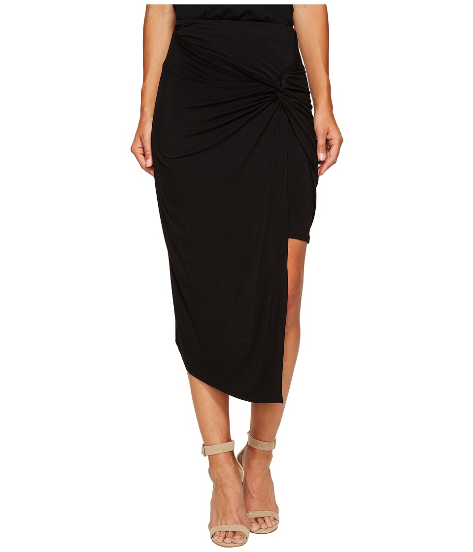 kensie - Lightweight Viscose Spandex Knot Skirt KS6K6235 (Black) Women's Skirt