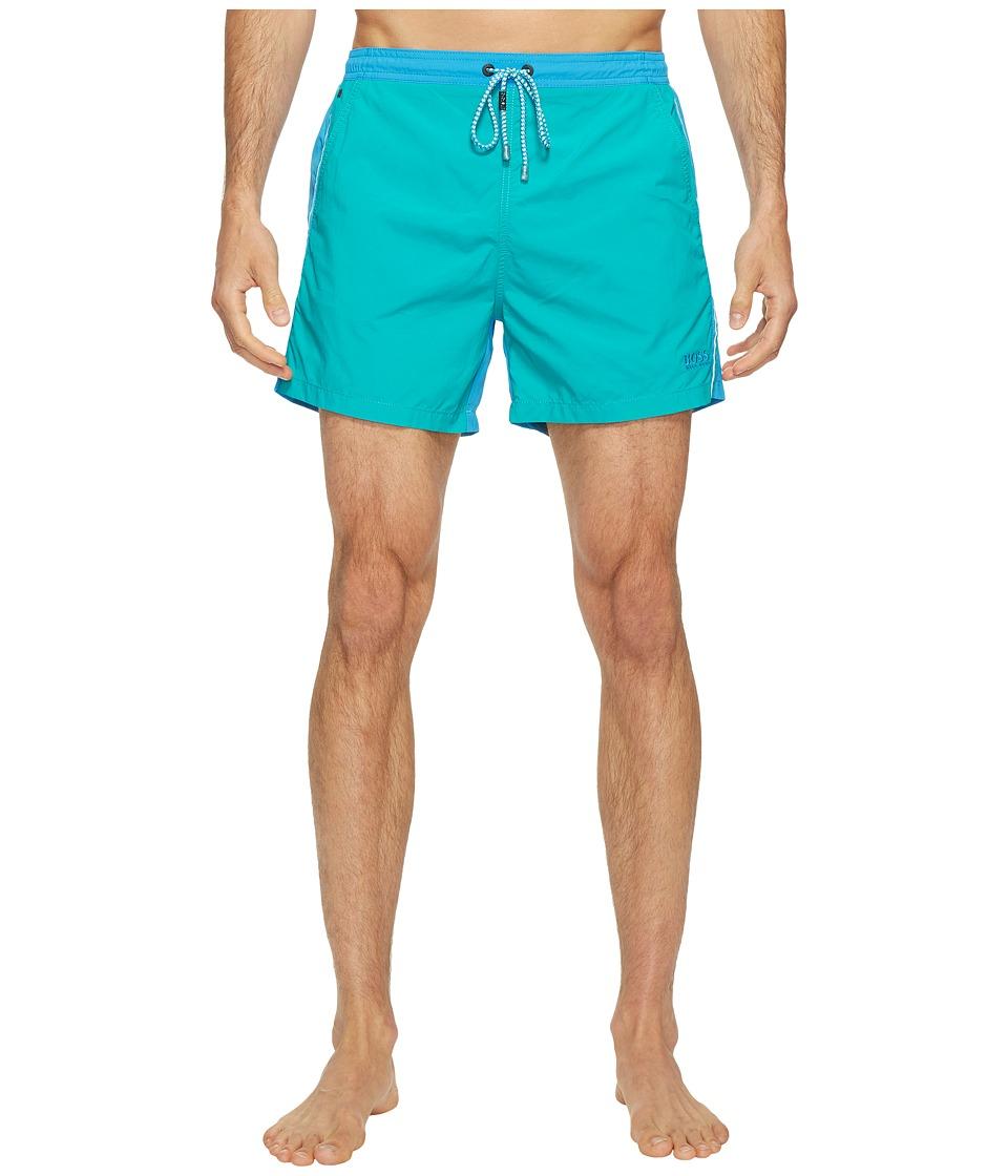 BOSS Hugo Boss Snapper Swim Trunks (Open Blue) Men