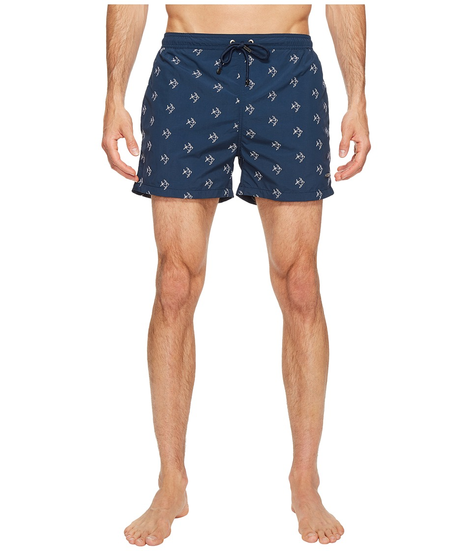 BOSS Hugo Boss - White Shark Swim Shorts (Navy) Men's Swimwear