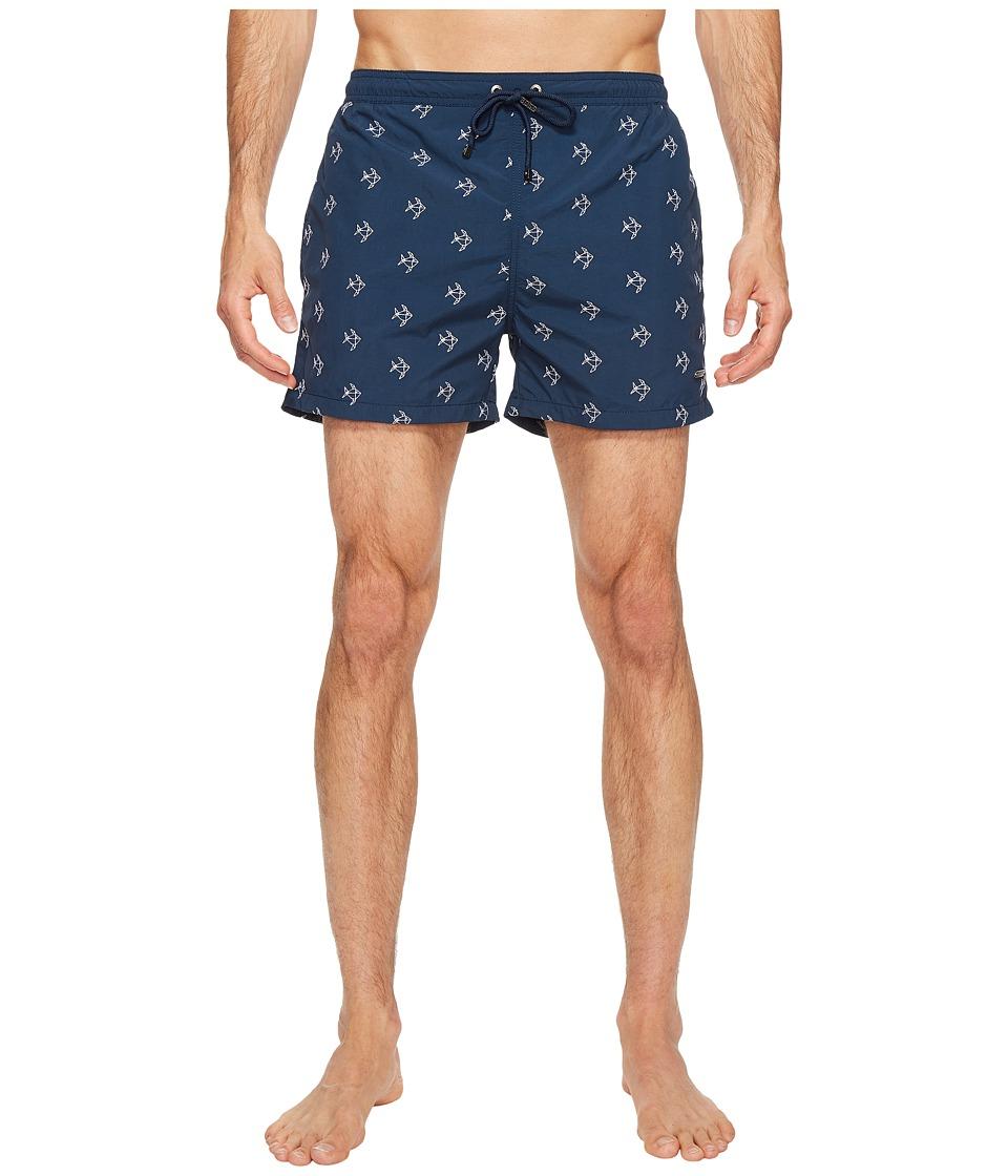 BOSS Hugo Boss - White Shark Swim Shorts (Navy) Men's Swimwear