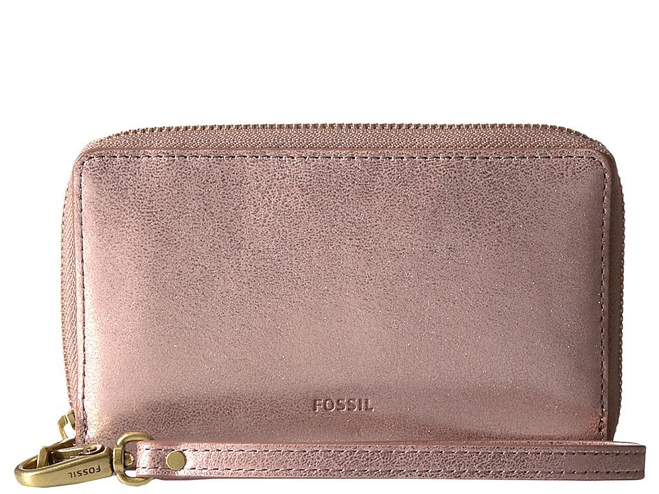 Fossil - Emma Smartphone Wristlet RFID (Rose Gold) Wristlet Handbags