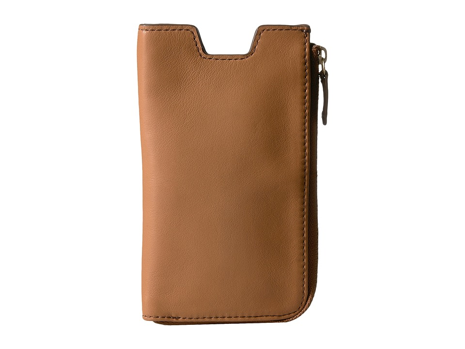 Fossil - RFID Phone Slide Wallet (Tan) Cell Phone Case