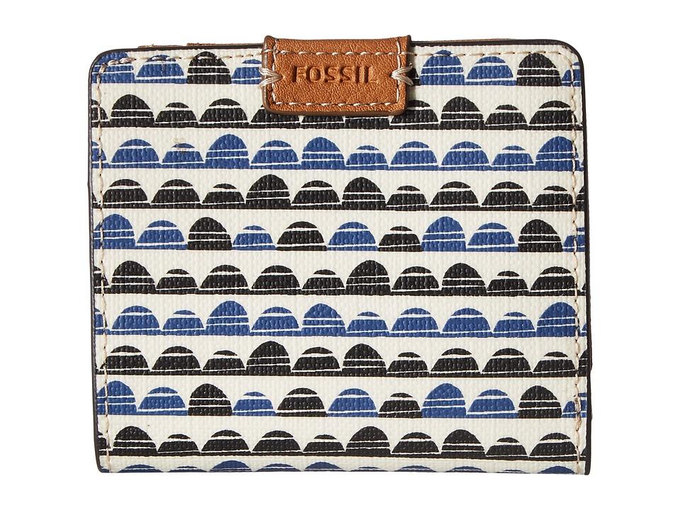 Fossil - Emma Mini Wallet RFID (Blue Print) Wallet Handbags