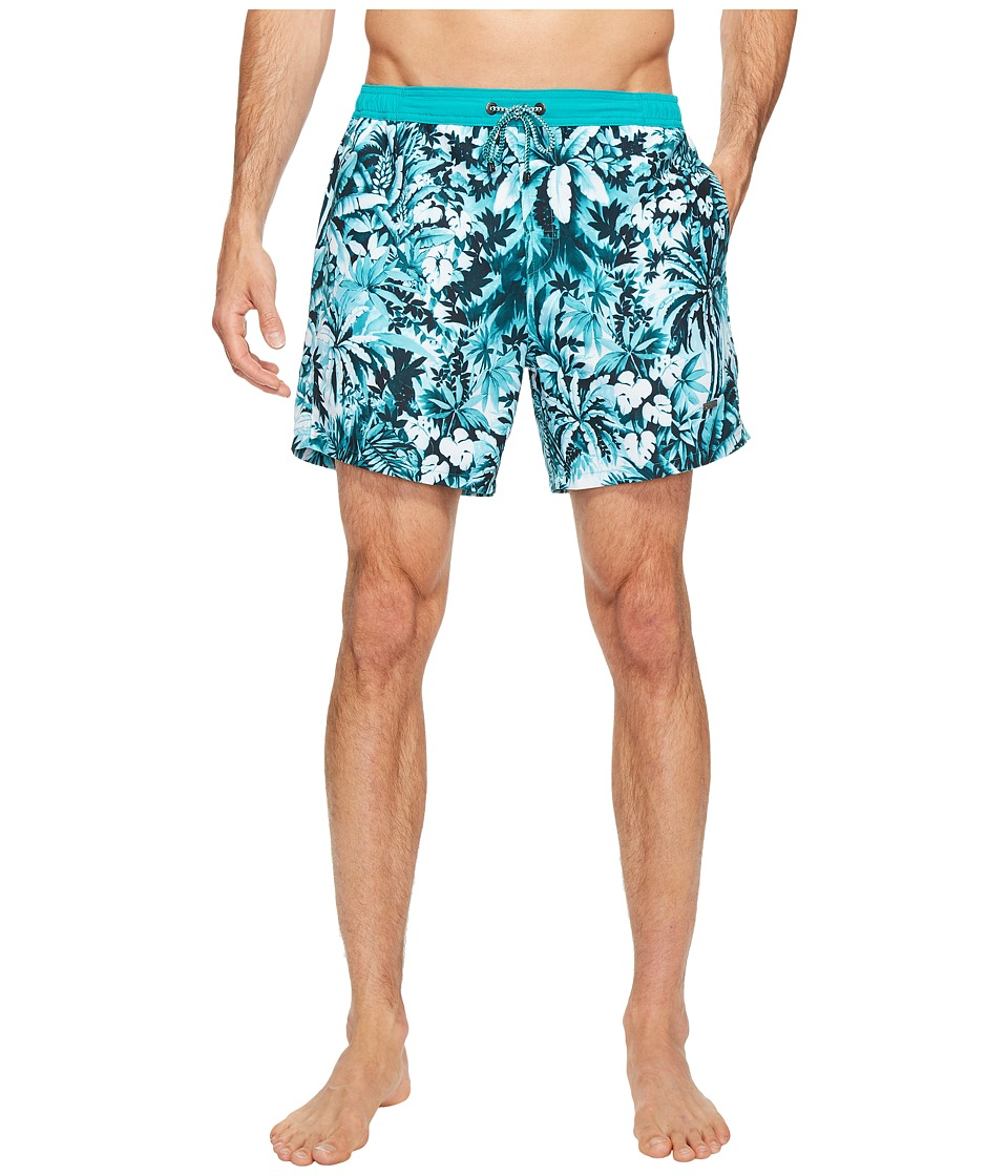 BOSS Hugo Boss - Mandarin Fish Swim Trunks (Open Blue) Men's Swimwear