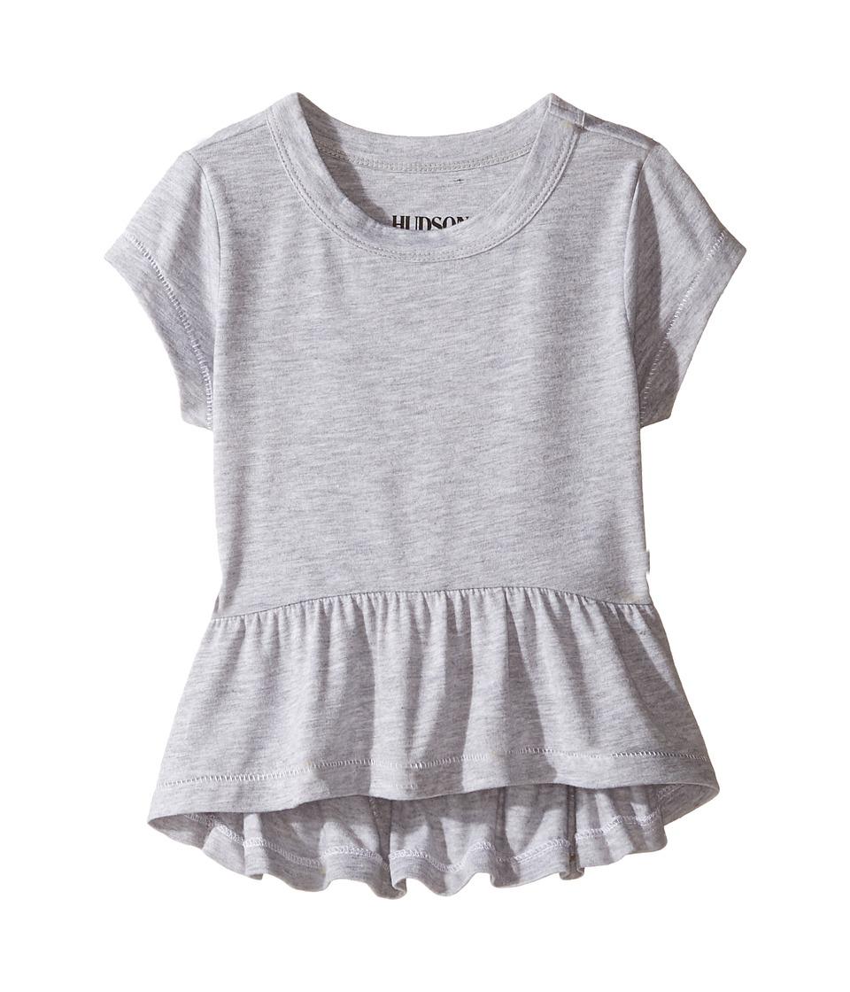 Hudson Kids - Heather Jersey Peplum Tee (Toddler/Little Kids) (Grey Heather) Girl's T Shirt
