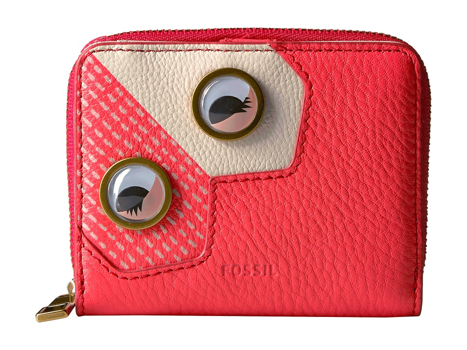 Fossil - Emma Mini Multi Wallet RFID (Neon Coral 1) Wallet Handbags