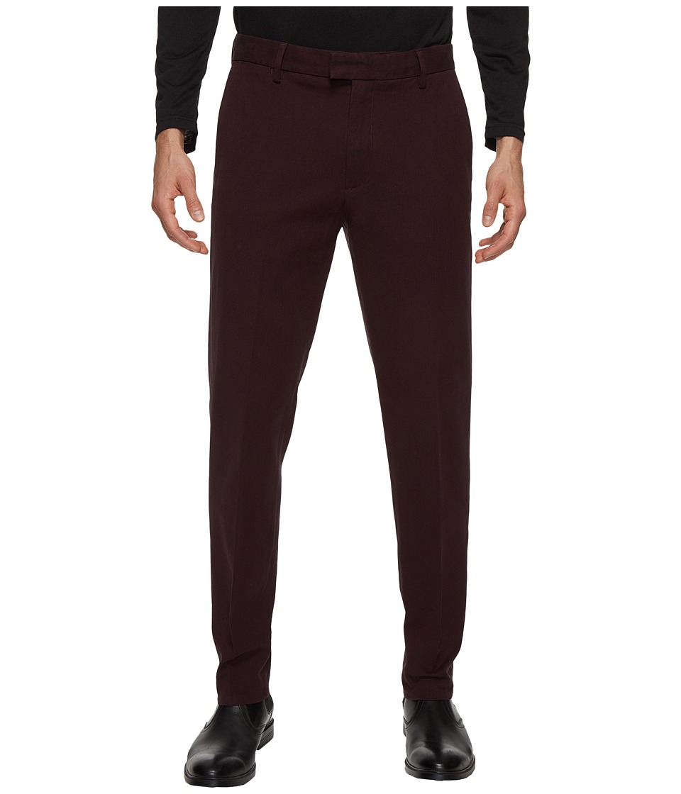Dockers Premium - Insignia the Khaki Slim Tapered (Black/Cherry Heather) Men's Casual Pants
