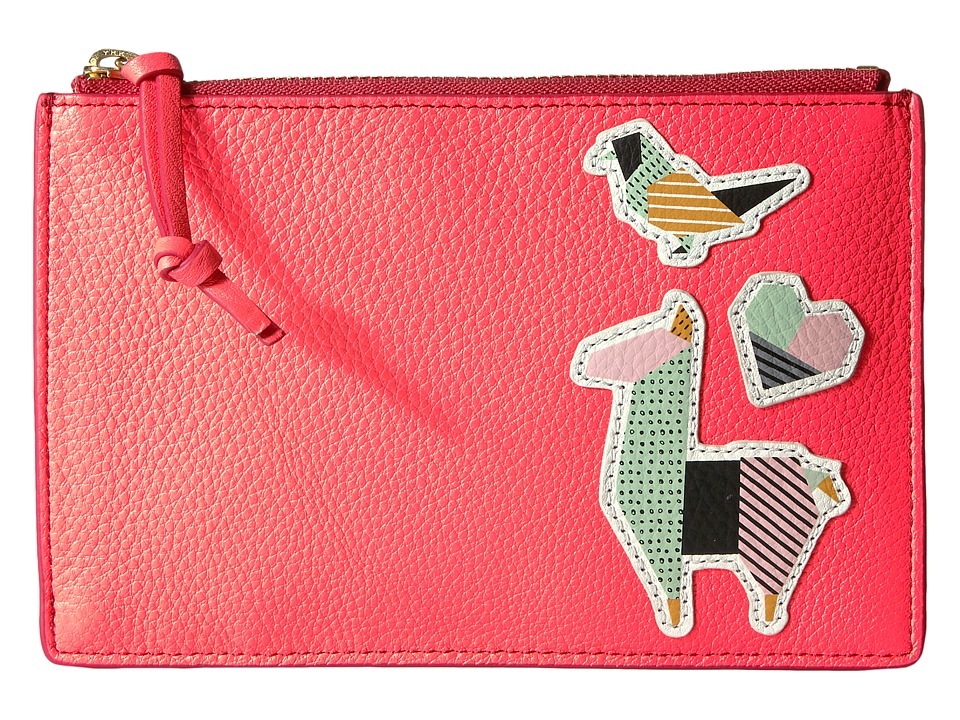 Fossil - RFID Small Pouch (Neon Coral) Travel Pouch