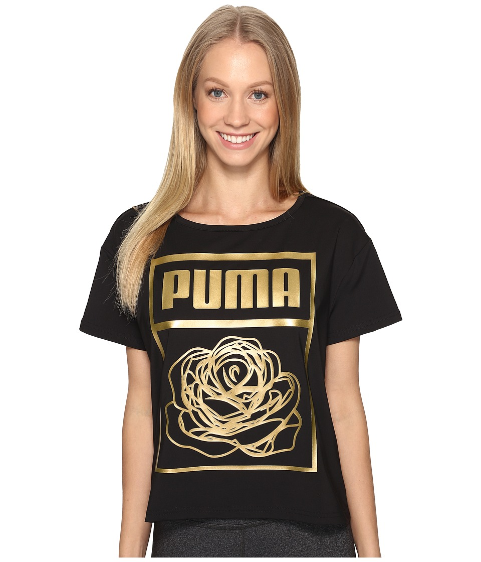 PUMA Puma X Careaux Logo Tee (PUMA Black) Women
