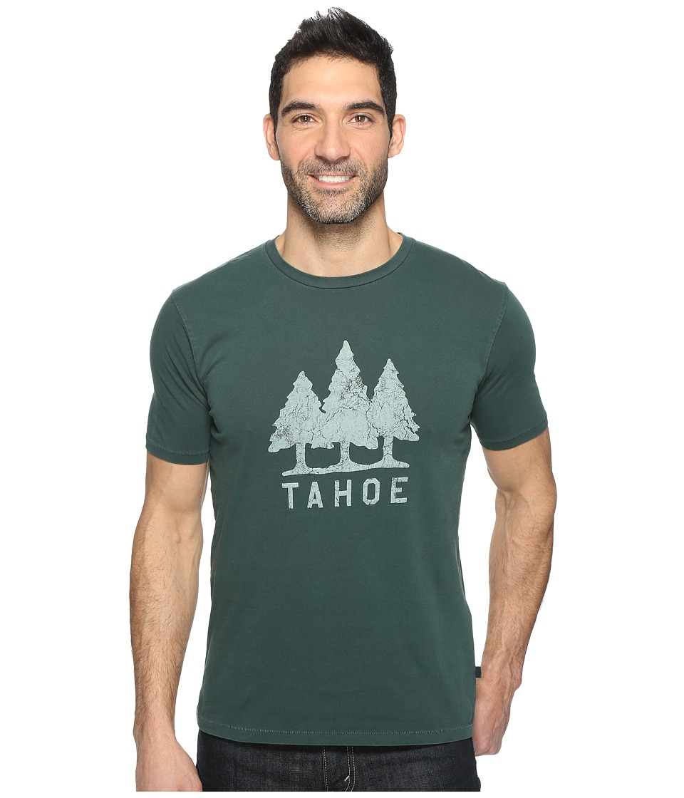 Dockers Premium - Garment Dye Graphic Tee (Tahoe Trees/Winter Pine) Men's T Shirt