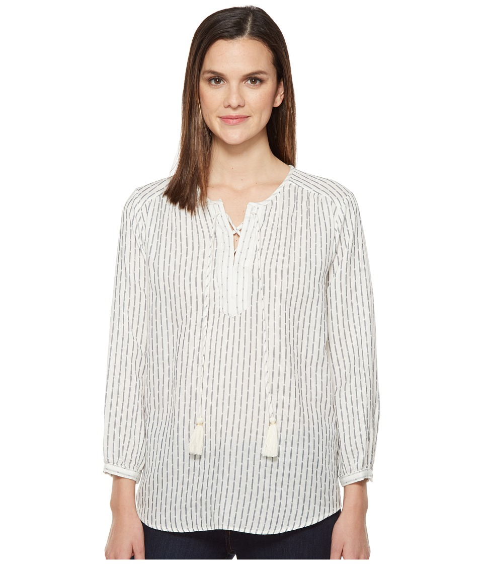 Michael Stars - Dobby Stripe Tie Up Blouse (Ivory Stripe) Women's Blouse
