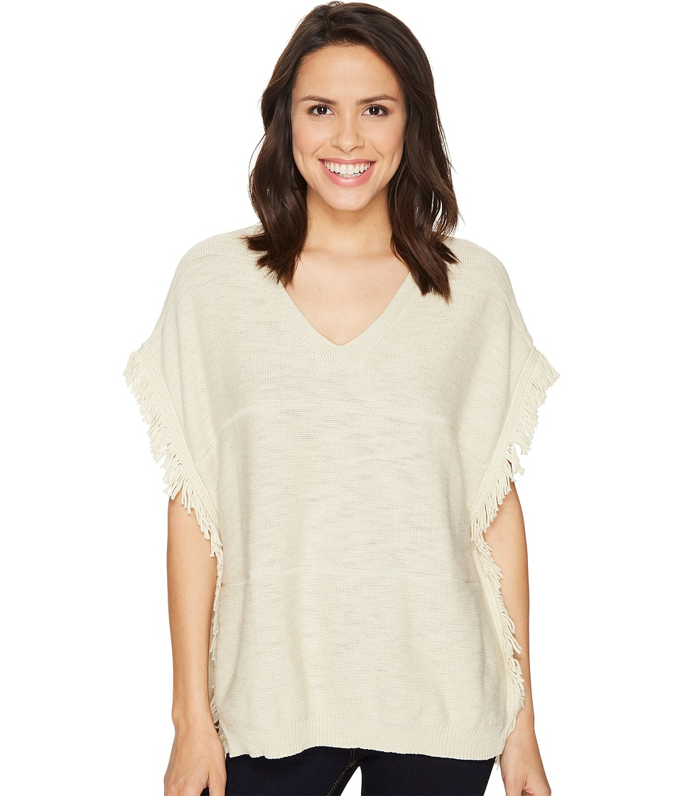 Michael Stars Cotton Slub V-Neck Poncho (Parchment) Women