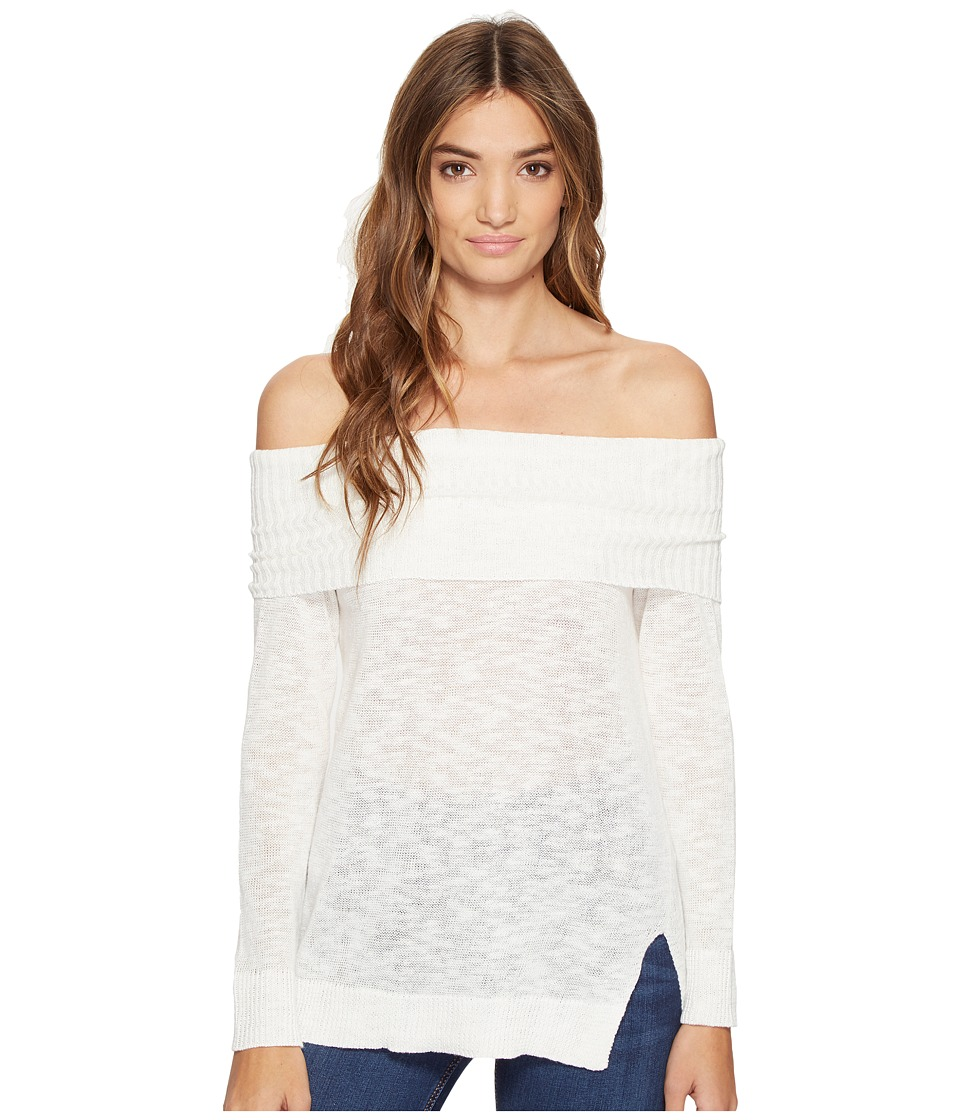 Michael Stars Linen Blend Off the Shoulder (Chalk) Women