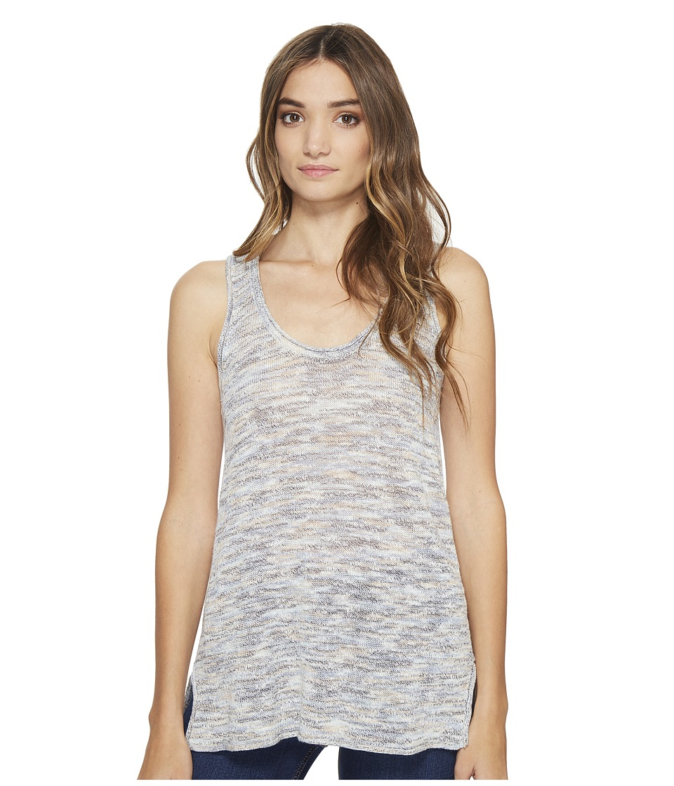 Michael Stars Linen Blend Scoop Neck Tank Top (Blue Marl) Women