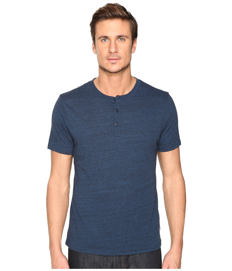 Threads 4 Thought Baseline Short Sleeve Tri-Blend Henley (Midnight) Men