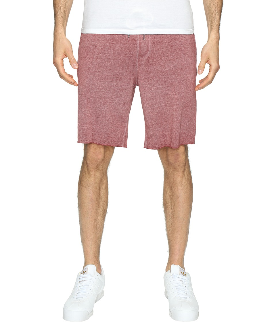 Threads 4 Thought - Burnout Wash Shorts (Oxblood) Men's Shorts