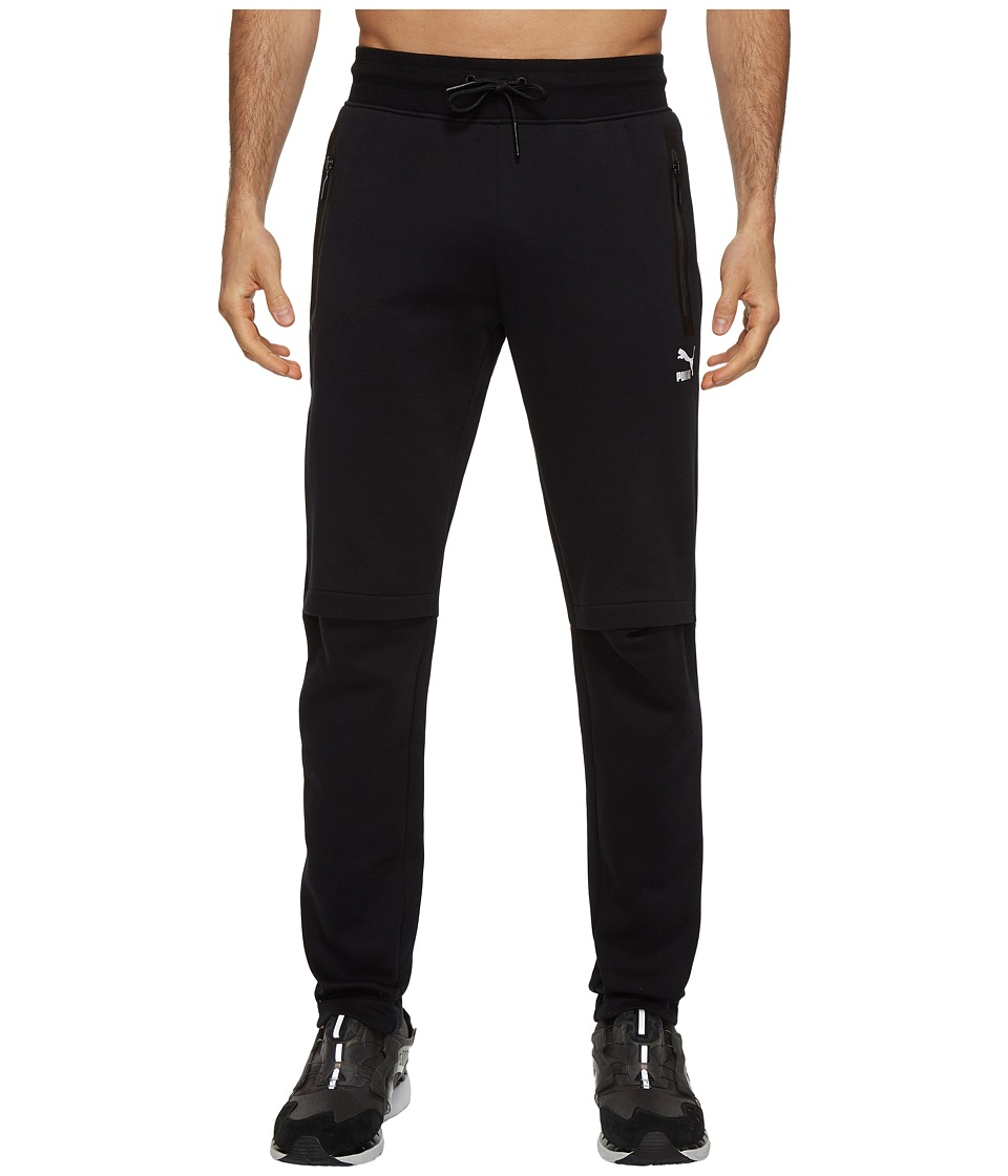PUMA - Evo LV Color Blocked Sweatpants (Black) Men's Casual Pants