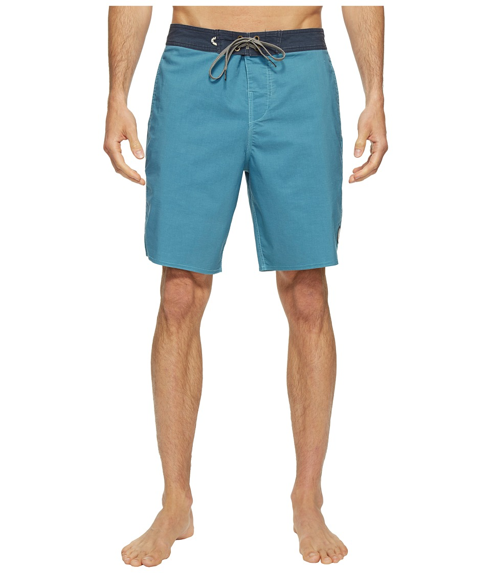Roark - Well Worn Boardshorts (Blue) Men's Swimwear