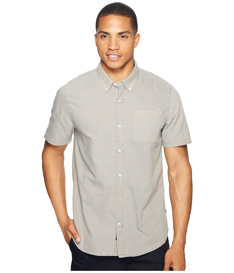 Roark - Well Worn Oxford Short Sleeve (Light Grey) Men's Clothing