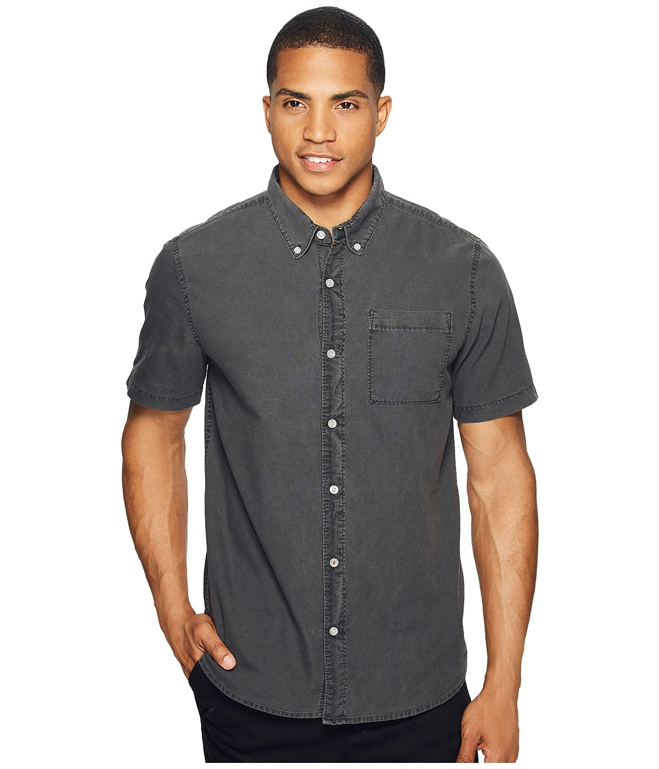 Roark - Well Worn Oxford Short Sleeve (Vintage Black) Men's Clothing