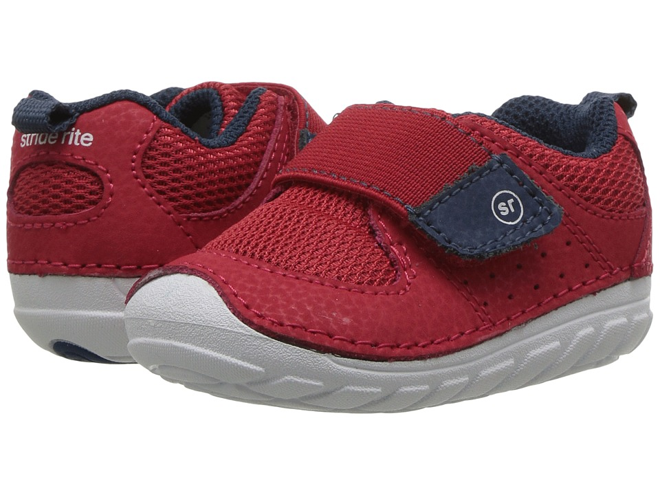Stride Rite Soft Motion Ripley (Infant/Toddler) (Red/Navy) Boys Shoes