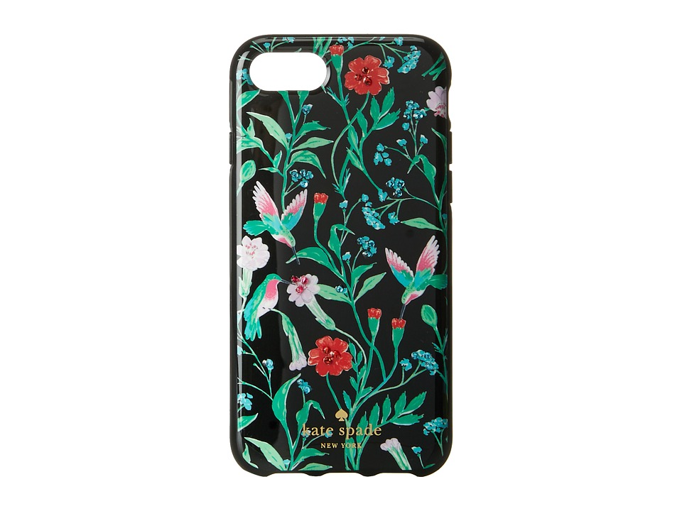 Kate Spade New York - Jeweled Jardin Phone Case for iPhone(r) 7 (Black Multi) Cell Phone Case