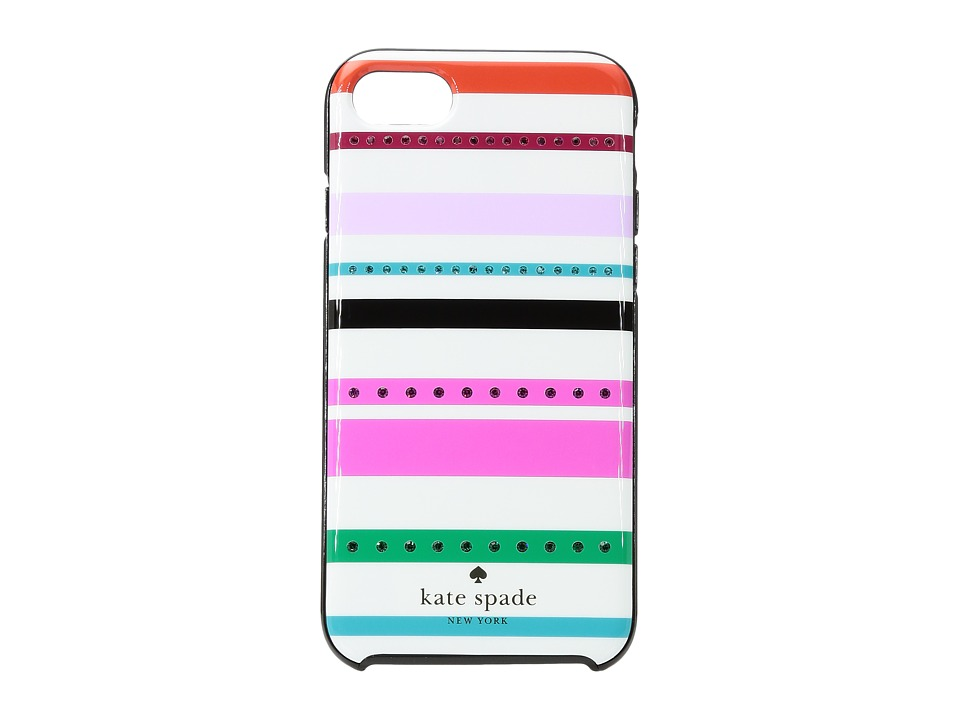 Kate Spade New York - Jeweled Fiesta Stripe Phone Case for iPhone(r) 7 (Cream Multi) Cell Phone Case