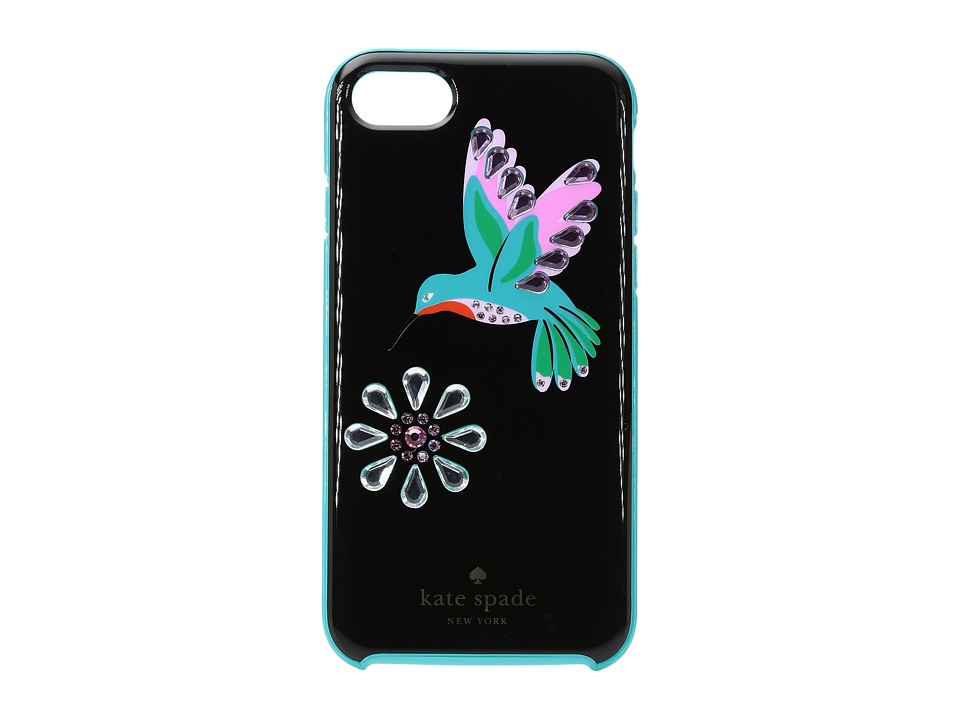Kate Spade New York - Jeweled Hummingbird Phone Case for iPhone(r) 7 (Black Multi) Cell Phone Case