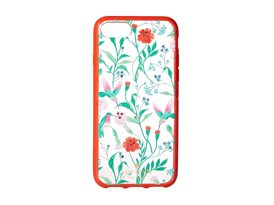 Kate Spade New York - Jeweled Jardin Clear Phone Case for iPhone(r) 7 (Clear Multi) Cell Phone Case